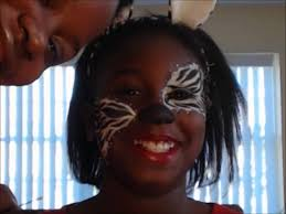 kids halloween makeup 2 in 1 kids halloween makeup tutorial zebra and cheetah