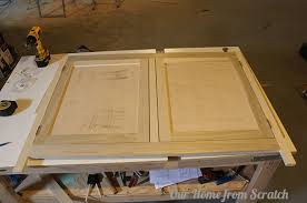 How To Build A Cabinet Door Frame Our Home From Scratch