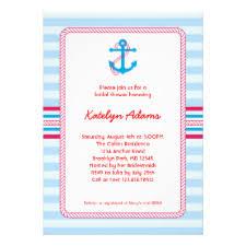 Nautical Bridal Shower Invitations Summer Bridal Shower Invitations Seasonal Showers