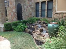 Waterfall Landscaping Ideas Christa U0027s Front Yard Waterfall And Bubbling Urn Water Feature