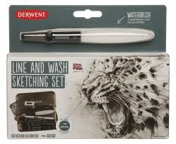 derwent line and wash sketching assorted penc whsmith