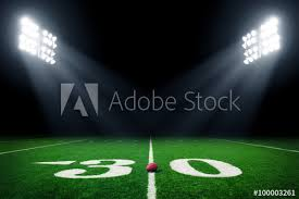 how tall are football stadium lights football field illuminated by stadium lights buy this stock photo
