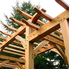 Timber Frame Pergola by Pacific Pergola Handcrafted Timber Frame Arbors