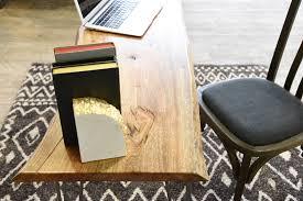 retro modern desk retro live edge wood slab desk woodwaves