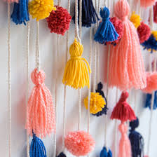 151 Best Images About Walls How To Make This Ridiculously Adorable Pom Pom Tassel Wall Hanging