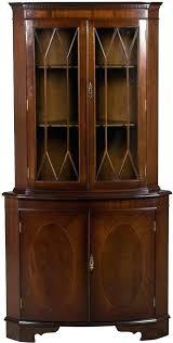 antique white corner cabinet antique corner bookcase furniture top white corner bookcase home