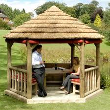 4m imperial thatched garden bar gazebo internet gardener