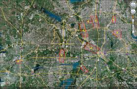 Map Dallas Texas by Areascanir Archived Imagery