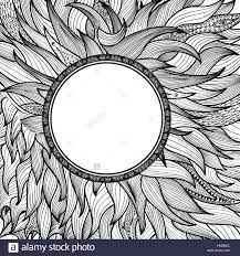 abstract ornament for tatoo zentangle pattern round shape