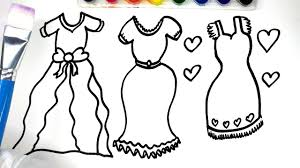 how to draw color and paint dresses painting dress with marker