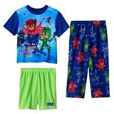 pj masks sz 6 pajamas shirt shorts pjs boys catboy owlette gekko