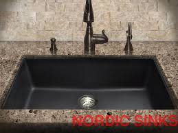Stone Kitchen Sink  Double Bowl Kitchen Sink  Gauge Combo - Black granite kitchen sinks