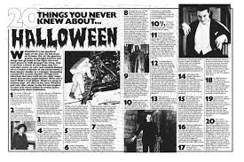 20 things you never knew about halloween viz