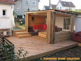 auvent en bois pour terrasse torpoon home creation terrasse en palettes et salon d u0027été