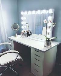 Bedroom Vanity Lights Vanity Table With Lights Makeup Lighted Mirror Makeup