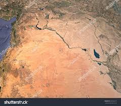 Satellite View Maps Syria Satellite View Map 3d Rendering Stock Illustration 456563917