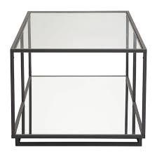 distressed black end table kure modern coffee table distressed black