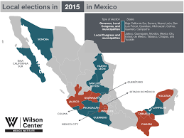 Mexico Political Map by The 2015 Election The Mexico Institute U0027s 2015 Elections Guide