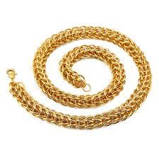 aliexpress buy nyuk new fashion american style gold nyuk two size 12mm 8 7mm thick gold chain necklace fashion cool iron