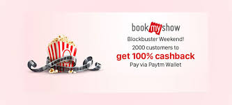 bookmyshow offer latest bookmyshow offers paytm get upto 50 cashback on movie tickets