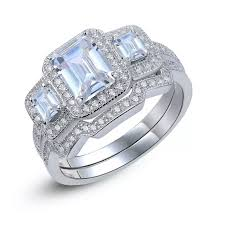 silver wedding ring sets for him and sterling silver wedding ring set ajikeonline