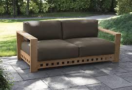 canapé en bois canapé contemporain de jardin en bois 2 places square