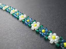 beaded chain bracelet images Beaded potawatomi daisy chain bracelet with nadine andrews jpg