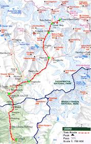 Spirit Route Map by Everest Base Camp Trek My Awesome Trip T U0026 C Travel The World