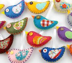 felt bird ornaments my pretties pajaritos fieltro y