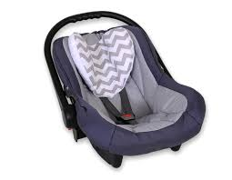 cale tete pour siege auto tête bébé pour siège auto zigzag gris
