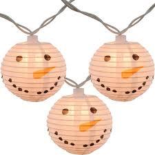 Outdoor Lantern String Lights by Snowman Head Christmas String Lights