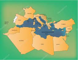 Mediterranean Sea World Map by Mediterranean Sea U2014 Stock Vector Lavinia4000 28615819