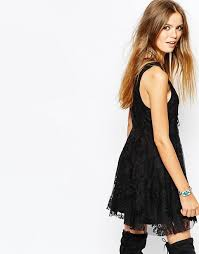 free people free people reign over me sleeveless dress with mesh