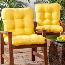 Greendale Home Fashions Set Of Two Outdoor SeatBack Chair - Yellow patio furniture