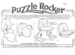 puzzle rocker plywood interlocking rocking chair plans