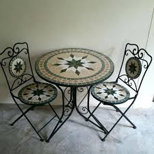 Mosaic Patio Furniture by Mosaic Bistro Sets Mosaic Patio Sets Sale Tunis Mosaic Cast Iron