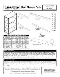 Edsal Shelving Parts by Edsal Ur361860 User Manual 2 Pages