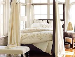 White Bed Canopy Bedroom Simple And Neat Classy Bedroom Decoration Ideas Using