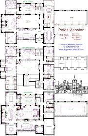 mansion floor plans castle randwulf design s miniature version of peles castle romania this