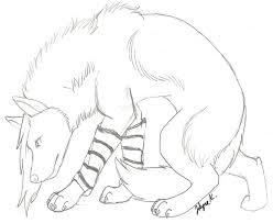 emo wolf sketch by uniqueraindisaster on deviantart