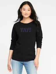 relaxed graphic crew neck sweatshirt for women old navy