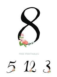 free table number templates free wedding table printables popsugar smart living