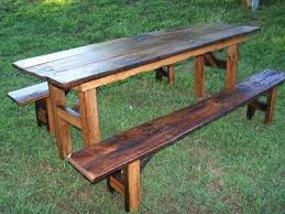 Diy Wood Picnic Tables by 21 Best Wood Projects Picnic Tables Images On Pinterest Home