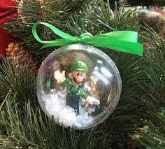 personalized mario bros luigi ornament