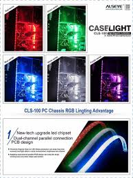 Led Light Strips For Computer Case by Alseye Cls 100 1 Pair Computer Led Case Light Silicone Magnetic