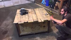 diy shipping crate coffee table youtube