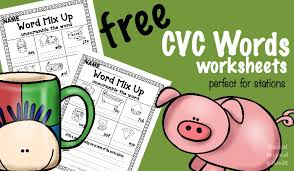 free cvc word worksheets unscramble the cvc word blessed