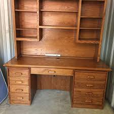 desk with hutch for sale popular oak desk with hutch within computer ridge double pedestal w