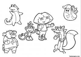 free printable coloring pages dora explorer printable