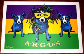 blue mardi gras george rodrigue blue dog mardi gras argus print